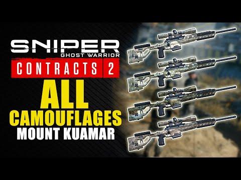 Sniper Ghost Warrior Contracts 2 guía - Dónde encontrar los 4 camuflajes del Monte Kuamar