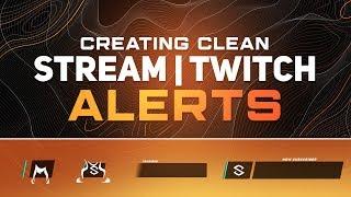 PS/AE Öğretici: Oluşturma Temiz Stream/Twitch Uyarıları Animasyon