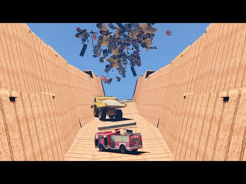 CAN YOU SURVIVE THIS VEHICLE AVALANCHE? (GTA 5 Funny Moments)