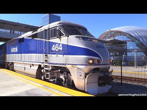 Amtrak Trains @ (ARTIC) Anaheim Regional Transportation Intermodal Center