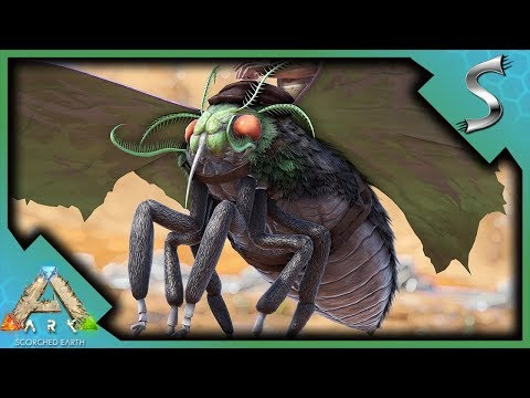 LYMANTRIA TAMING! SMELLY MOTH FARTS! | Ark: Scorched Earth [Gameplay E4]