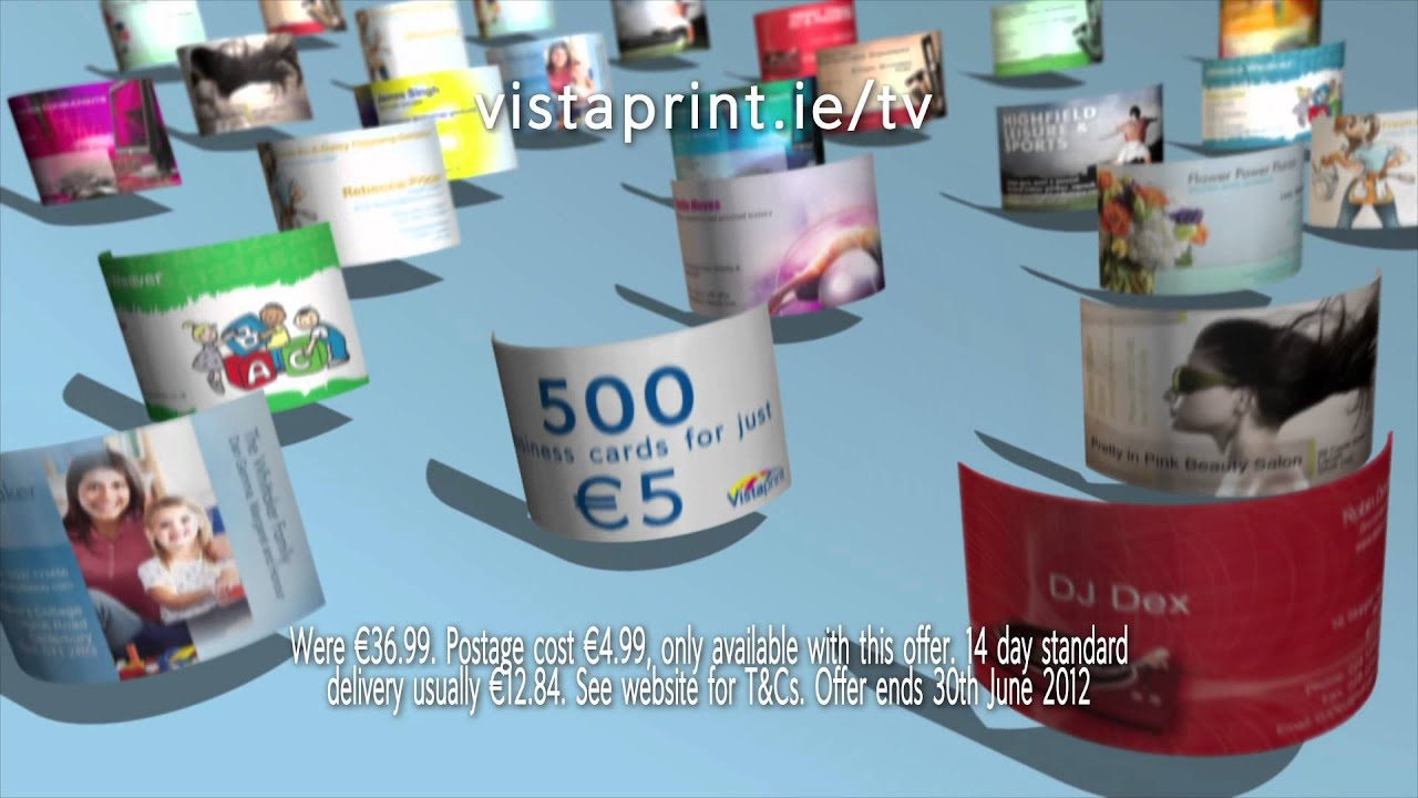 vistaprint business cards tv advert for ireland youtube