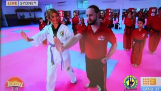Australian Martial Arts on the Today Show- Bully Protection Techniques