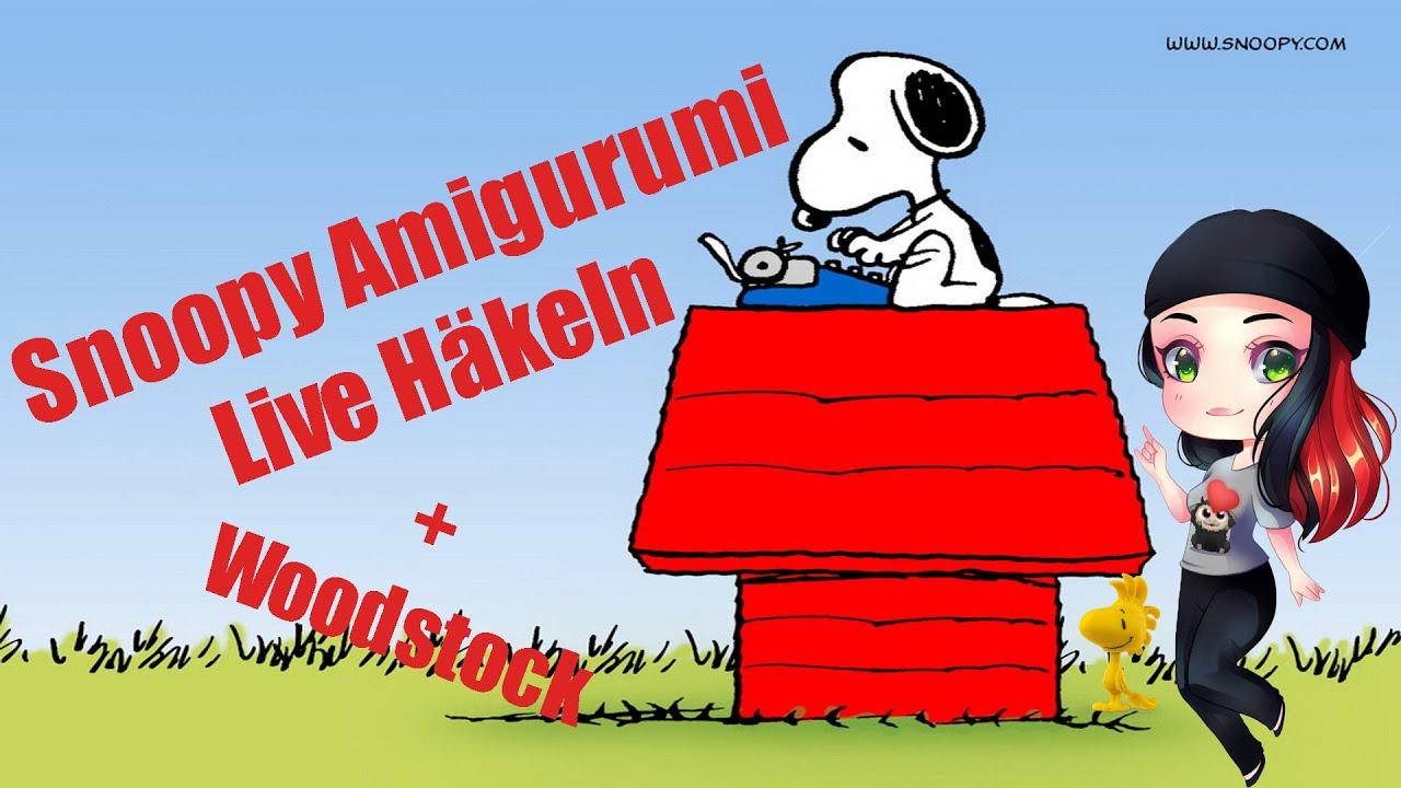 Amigurumi SnoopyInspirierter Snoopy CharakterZeichentrickfigurHäkeln