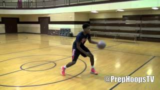 E.C. Matthews works on his handle with the Kyrie Irving plastic bag workout