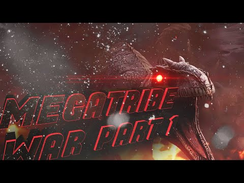 ARK: BIGGEST MEGATRIBE WAR EVER | #PART 1 | OFFICIAL PVP | Xbox One