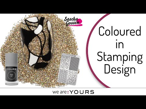 COLOURED IN STAMPING DESIGN