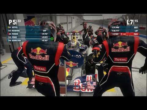 F1 2012 @ New Delhi 25% Pro Race Cockpit RedBull