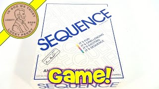 Sequence Board Game #8002, 1995 Jax Games - An Exciting Game Of Strategy