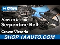 How to Remove Reinstall Serpentine Belt 2003-05 Ford Crown Victoria Buy Quality Parts at 1AAuto.com