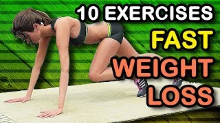 10 Fast Weight Loss Exercises At Home