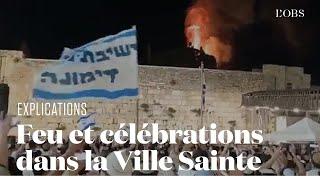 Un incendie se déclare sur l'Esplanade des Mosquées sur fond de fête israélienne