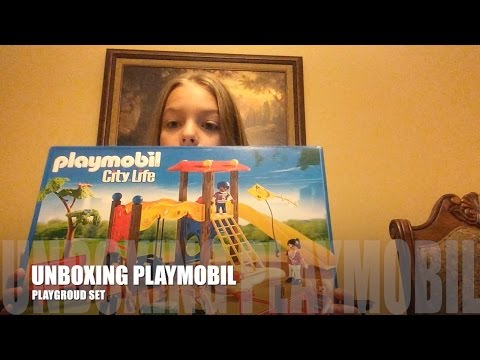 UNBOXING PLAYMOBIL PLAYGROUND SET