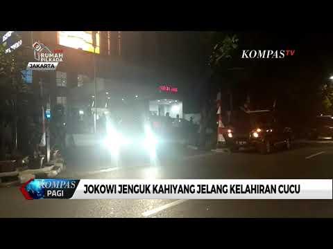 Jokowi Jenguk Kahiyang Ayu Jelang Kelahiran Cucunya