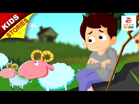 English Stories For Kids | The Boy Who Cried Wolf | Kids Cartoon ...