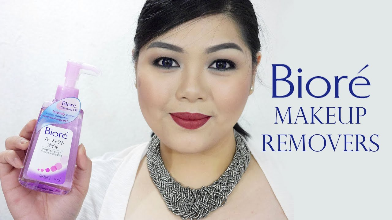 Biore Cleansing Oil 150ml Make Up Remover How I Remove My Makeup With Bior Review Tips And Giveaway Closed Youtube