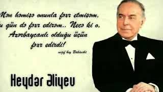 Heyder eliyev / men fexr edirem ki azerbaycanliyam