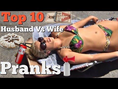 TOP 10 HUSBAND VS WIFE SURPRISE PRANKS - Pranksters In Love 2018