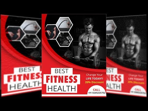 How to Make Awesome Fitness Health Template Design In CorelDRAW thumbnail