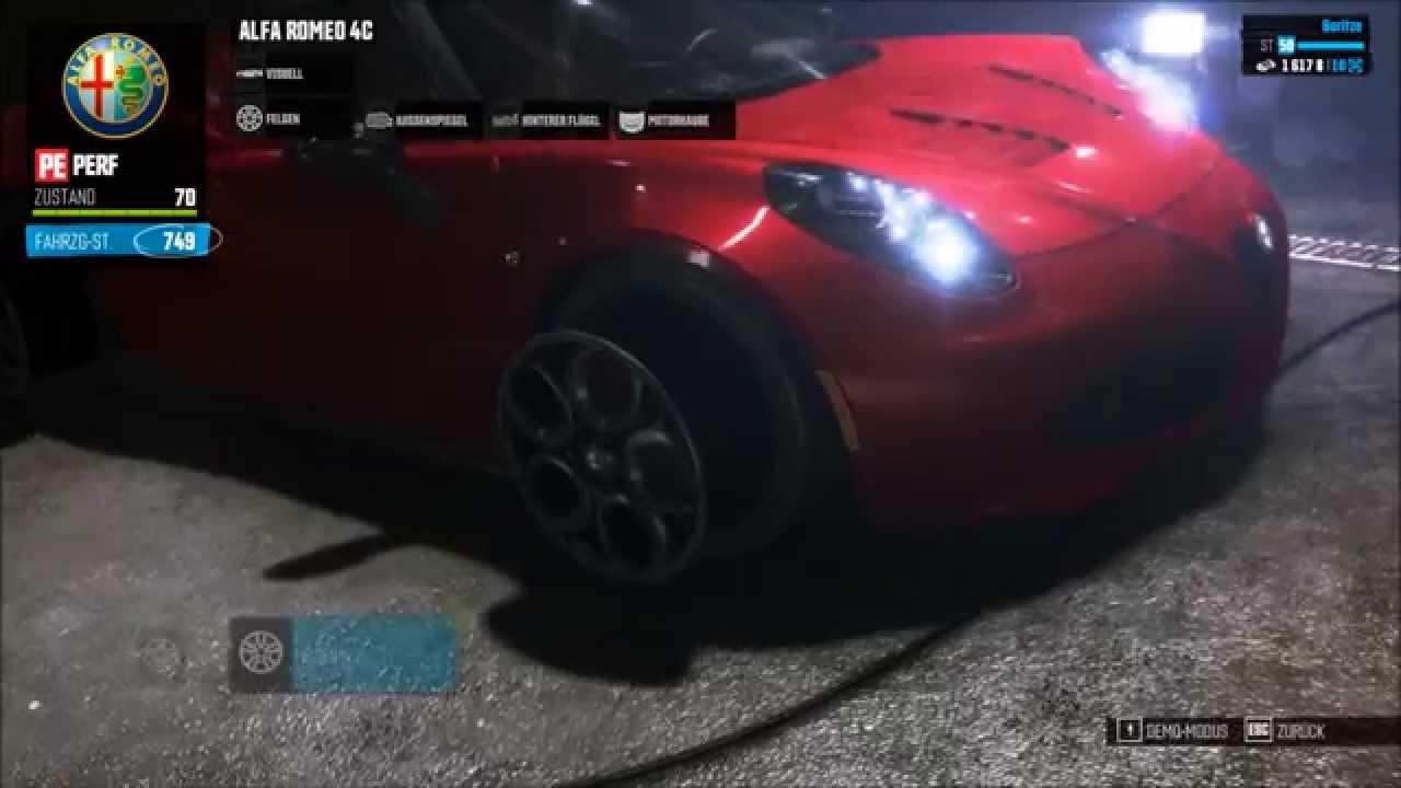 The Crew  Alfa Romeo 4C Performance Tuning  YouTube