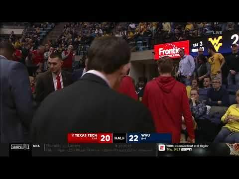 Texas Tech Men's Basketball at West Virginia: Highlights | 2019