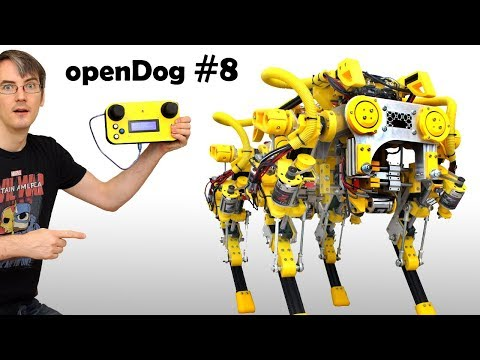openDog Dog Robot #8 | First Motions | James Bruton