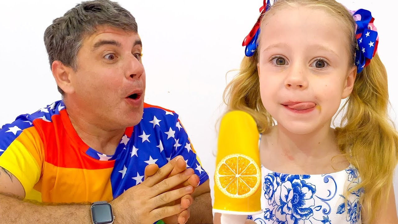 Nastya and dad - stories about ice cream and sweets