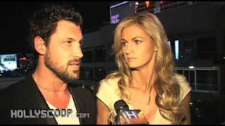 Erin Andrews and Maksim Chmerkovskiy on Dancing With the Stars