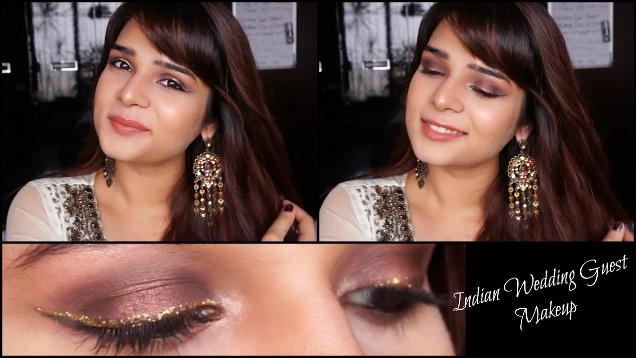 Indian Wedding Guest Makeup Tutorial Long Lasting Brown And Gold New Products Reviews
