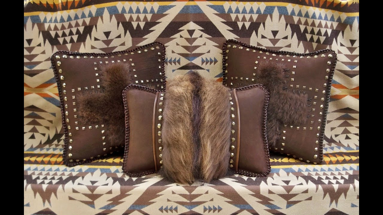 cowboy trim rodeo product bronco western riding a pillows leather pillow bed