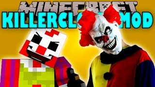 KILLERCLOWN MOD - Payasos Asesinos en Minecraft!! - Minecraft mod 1.10.2 Review ESPAÑOL