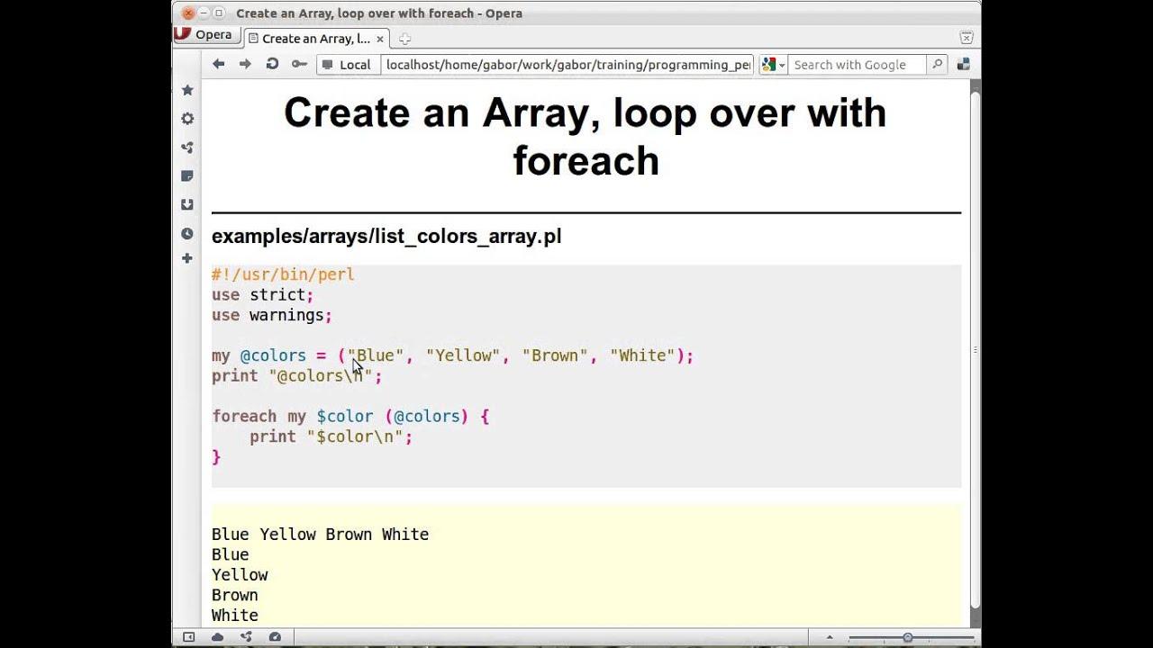 Beginner Perl Maven Tutorial 44 Creating An Array