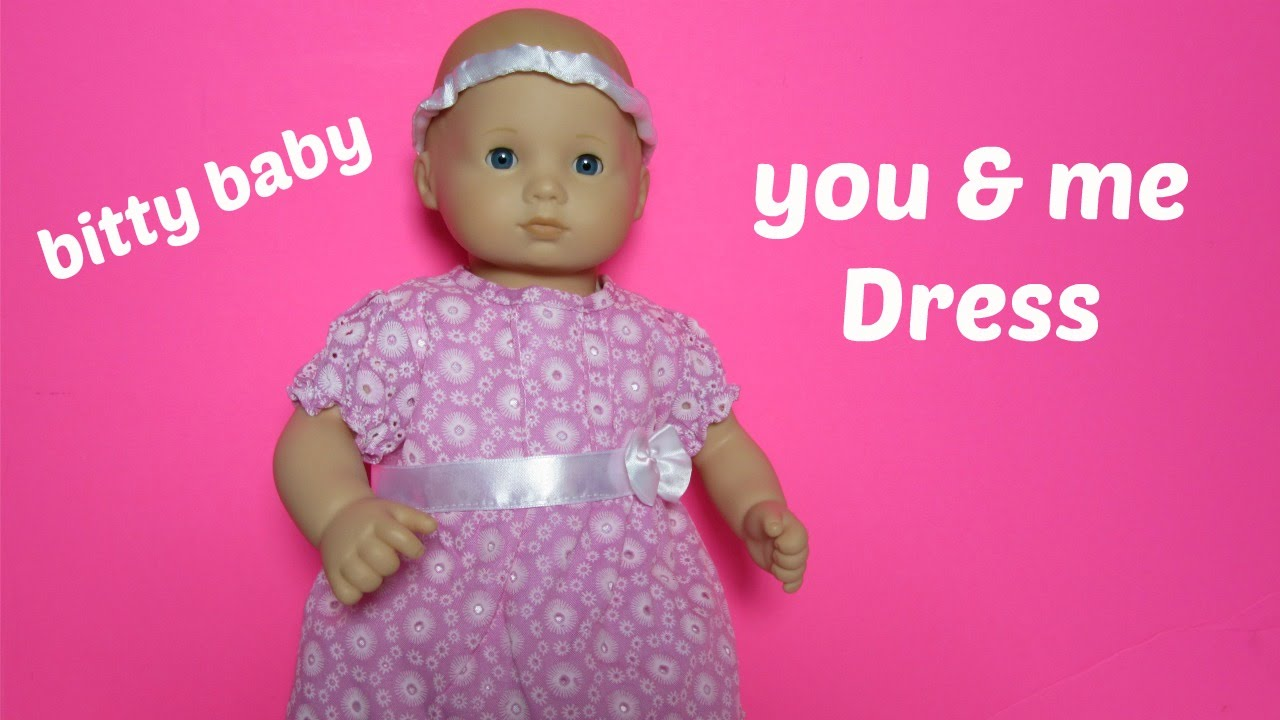 American Girl Bitty Baby Doll Clothes You & Me Pink Dress