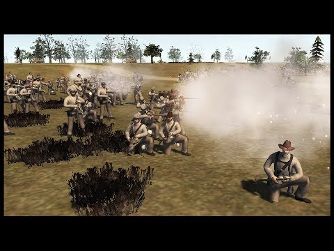 CONFEDERATE RIVER CROSSING! ~ Huge Union Town Defense - Men of War: Born in the Fire (Live)