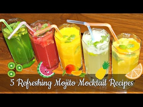 How To Make Mojito Mocktail | 5 Refreshing Summer Mocktail Recipes | Simple & Easy Summer Coolers