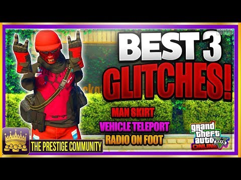 GTA 5 Online 3 SICK GLITCHES! Vehicle Teleportation, RADIO On FOOT & More! (Best Top Glitches 1.41) - 동영상