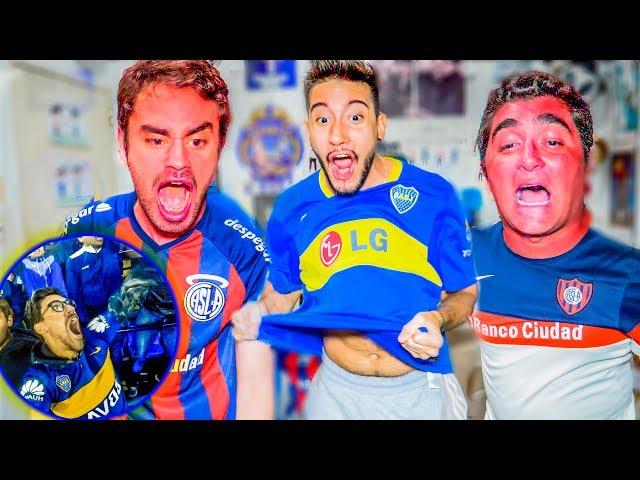 CON APUESTA de CAMISETA! Boca vs San Lorenzo | Reacciones | Superliga 2019