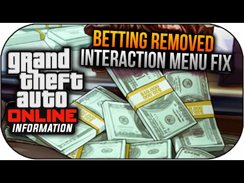 GTA 5 Online Betting Removed & Interaction Menu FIX ! (GTA V Gameplay)