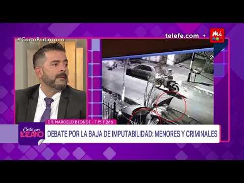 Fuerte debate por la baja en la edad de imputabilidad  - Cortá por Lozano 2018