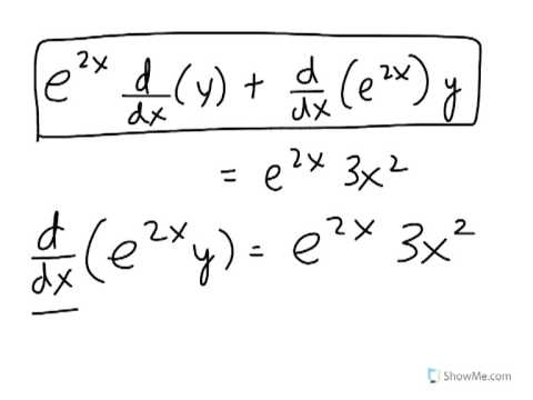 Integrating factor method: Solving a first order ordinary