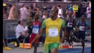 [RAI SPORT PIU'] Usain Bolt record del mondo nella finale dei 200 mt (19.19sec)