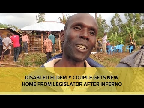 Disabled elderly couple gets new home from legislator after inferno