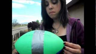 Nerf Football Egg Drop Science Project