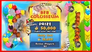 BTD Battles - HOW DID I WIN THIS?! - Crazy Bloons TD Battles 50,000 BET!  BFB COLOSSEUM!