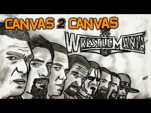 WrestleMania 31 goes Canvas 2 Canvas - WWE Canvas 2 Canvas
