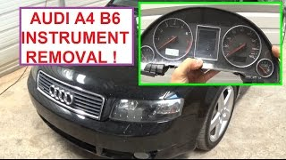 instrument cluster removal audi a4 b6 2002 2003 2004 2005 in under 3 minutes