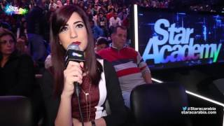 شنتال جعجع تشجع علي الفيصل في كواليس البرايم 9 - ستار اكاديمي 11
