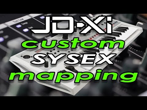 Custom MIDI control mappings to the JD-XI using system exclusive