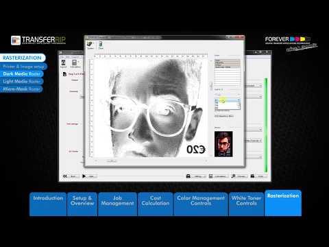 TransferRIP Part 7 #3   How to Use the Dark Media Raster Rasterization