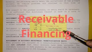 Receivable Financing (Overview)